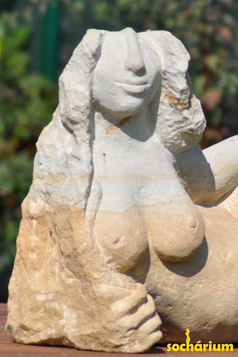 Sculpture Torso Of A Lion Woman Radek Kubina