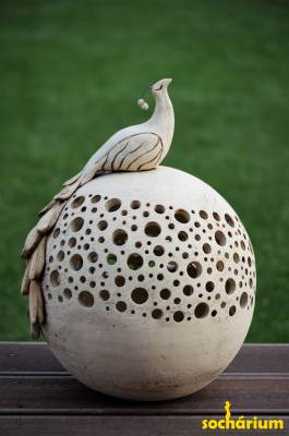 Decorative Ball with Peacock